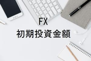 初めてのFXの初期投資金額はいくらから?